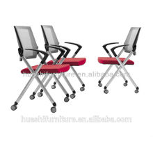 X2-03SHL Black stacking chairs with wheels