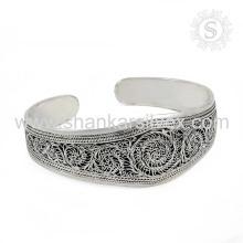 Beautiful Engrave Fashion Bijoux en argenterie Bangle Grossiste Bijoux en argent Inde