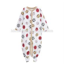 cheap price custom print baby boys onesie football printed knitted baby romper for newborn