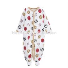 Preço barato impressão personalizada baby boys macacão de futebol impresso malha romper do bebê para recém-nascidos