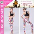 Новый дизайн красочные сублимации печатных цветочные Леггинсы для женщин фитнес