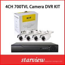4CH 700tvl Bullet CCTV cámara de seguridad DVR Kit