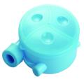 Caixa de armazenamento de plástico em pó para bebê com três compartimentos