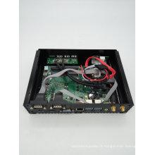 Double PC NIC Dual HDMI 6 COM USB industriel Fanless Mini PC Frame