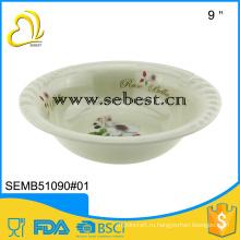 """Европейский стиль 9"""" меламин пластиковая чаша посуда"""