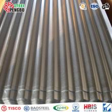 Hoja de techo de acero corrugado galvanizado en caliente DIP