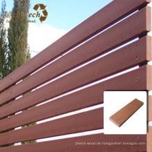 Mahagoni WPC Holz Kunststoff Composite Zaun