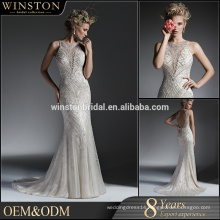 Elegant high quality manufacturer heavy beaded new arrival wedding dress