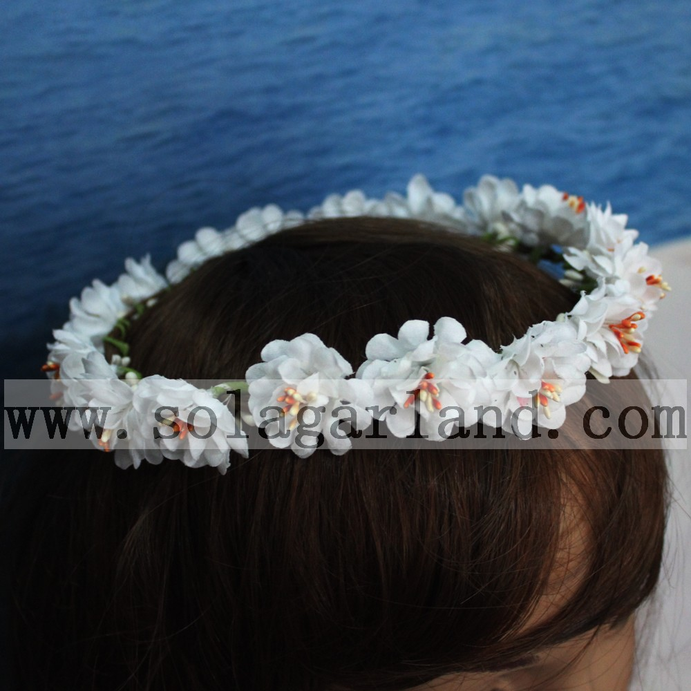 Fashion artificial flower wedding hair wreath