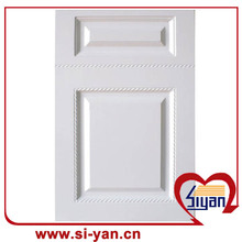 Pvc foil pressed unfinished kitchen cabinet doors