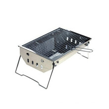 Portbleble Folding Briefcase Mini Charcoal BBQ Grill for Camping