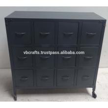 vintage industrial metal drawers cabinet