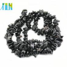 Gemstone Natural Black Obsidian Chips Beads