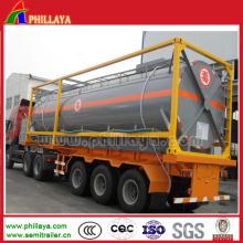 20FT 40FT Kraftstoff / Wasser / Ätznatron Tankcontainer für Verkauf
