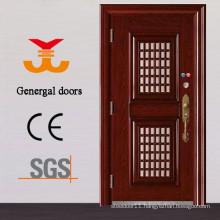Steel safety exterior door with opening window