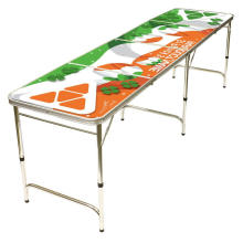 Beer Drinking Game Table For Outdoor Gaming Using