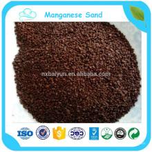 MnO2: 35% de areia de manganês