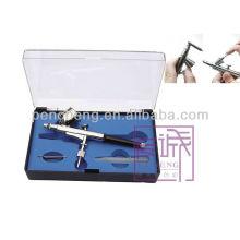 Air Brush Spray Gun Dual Action Airbrushing Kit para tatuagem temporária