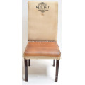 Vintage Leather Canvas Chair