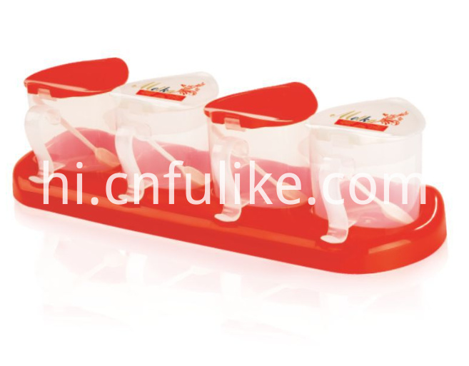 4 Condiment Container