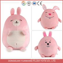 O ICTI aprovou o coelho enchido costume do coelho do luxuoso da fábrica do brinquedo
