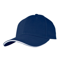 Curved Brim Plain Heavy Brush Cotton Baseball Cap and Hat