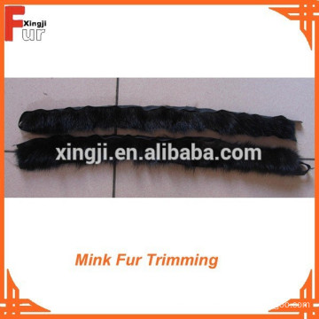 For Jacket natural color Mink piping fur trim