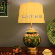 Lampe de table en céramique vert lampes de chevet pour les chambres