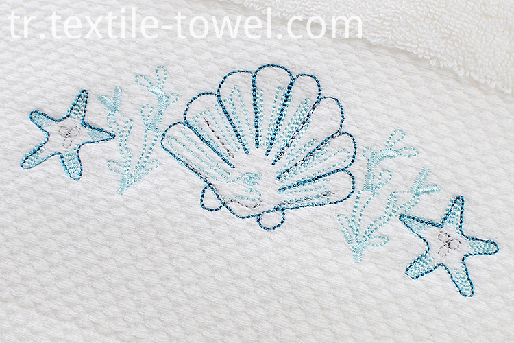 Towels with Sea Star Embroidery