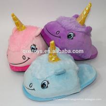 Indoor Soft Slippers Unicorn Plush Animal Design