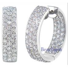 Synthetic Diamond CZ Sterling Silver Earrings for Women (E8913)