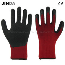 Latex Coated Knitted Yarn Shell Labor Protective Work Gloves (LS509)