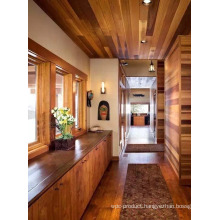 Eco-Friendly Wooden House with Red Cedar Wood Timber.