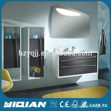 Euro Style Wall Hanging Bath Furniture Artifical Stone Basin Sink Vanity Furniture Modern MDF Furniture Bathroom