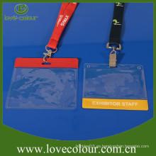 Soporte de tarjeta de identificación suave de plástico transparente