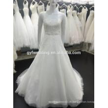New Style Sheer Kurzarm Tüll Ballkleid Dubai Beadings Muslim Brautkleid 2015 Modest Muslim Brautkleid XZ0004