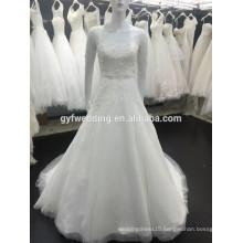 New Style Sheer Short Sleeves Tulle Ball Gown Dubai Beadings Muslim Wedding Dress 2015 Modest Muslim Wedding Dress XZ0004