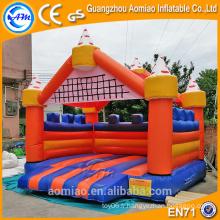 Château de rebond gonflable orange et bleu de haute qualité, château gonflable à vendre