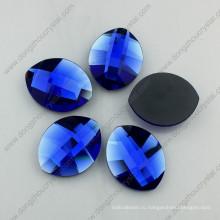 Капри синий лист форма стекла flatback камень (ДЗ-1294)