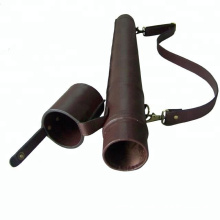 HIBO Fishing Accessories Stylish Leather Fly Fishing Rod Tubes
