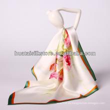 "34 ""x34"" flor llana de impresión digital moda foulard soie"