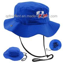 100% poliéster microfibra de tela al aire libre deporte cubo Hat (TMBH0793)