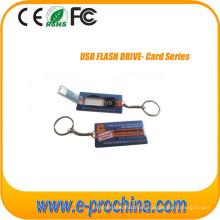 Tarjeta de memoria USB Slim con impresión a todo color para Freesample