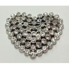En forme de coeur, en alliage strass, Lady Shoe Buckle