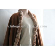 fourrure de cachemire tranchant pashmina châles wraps