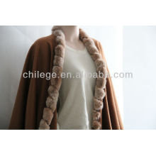 cashmere fur edged pashmina shawls wraps