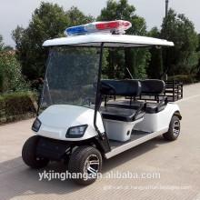 4 passageiros policial carrinho de golfe com caixa de carga alimentado por elétrico para venda