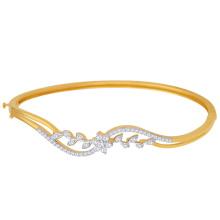 14k Золото над 925 серебряными ювелирными изделиями 925 серебряных браслетов