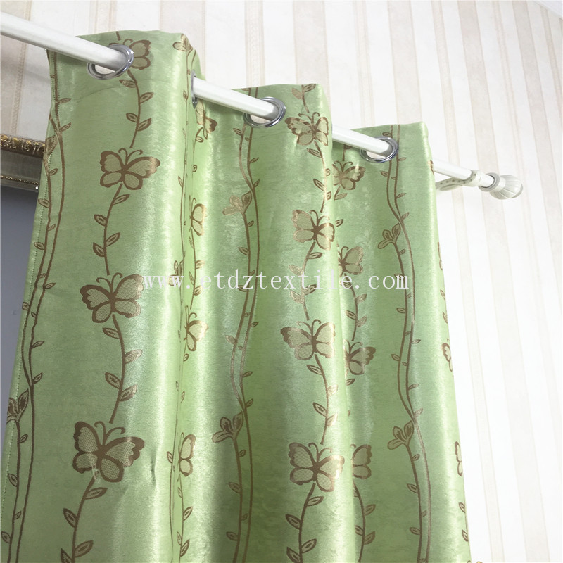 LARGE JACQUARD BUTTERFLY DESIGN CURTAIN