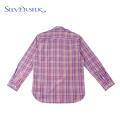 Tops de muy buen gusto Blusa Cuadros coloridos Camisas para niños Largas